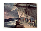 Scudding before a Heavy Westerly Gale Off the Cape, Lat.44 Deg., 1824 Giclee Print by Augustus Earle