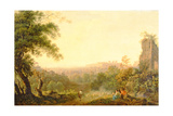 A View of Rome with Peasants and Ruins Giclee Print by Jacob-Philippe Hackert