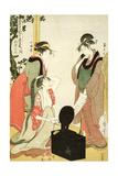 P.353-1945 Scene 6, Comparison of Celebrated Beauties and the Loyal League, C.1797 Giclee Print by Kitagawa Utamaro