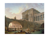 Architectural Capriccio Giclee Print by Hubert Robert
