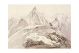 Aiguilles De Chamonix, C.1850 Giclee Print by John Ruskin