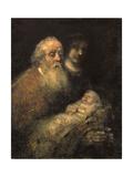 Simeon in the Temple, 1669 Wydruk giclee autor Rembrandt van Rijn
