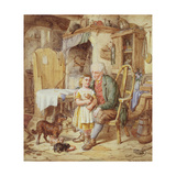 The New Puppies, 1861 Giclee Print by David Hardy