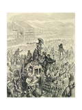 The Derby - at Lunch, from 'London, a Pilgrimage', Written by William Blanchard Jerrold… Giclee Print by Gustave Doré