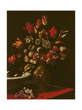 Vase of Flowers with a Wash Basin Giclee Print by Carlo Dolci