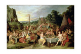 The Worship of the Golden Calf, C.1630-35 Giclee Print by Frans Francken the Younger