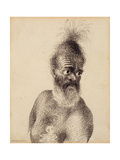 Head of a Maori Man, C.1775 Giclee Print by William Hodges