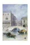 The Bridge of Sighs, Venice Giclee Print by Myles Birket Foster