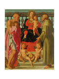 Madonna and Child with Angels and Ss. Jerome and Francis, C.1517-18 Giclee Print by Jacopo Pontormo