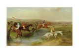 Steeplechasing: the Brook Giclee Print by William Joseph Shayer