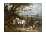 Travellers Resting Giclee Print by Pieter van Bloemen
