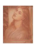 Study for 'La Pia De' Tolomei' Giclee Print by Dante Charles Gabriel Rossetti