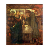 Tristram and Isolde Drinking the Love Potion, 1867 Giclee Print by Dante Charles Gabriel Rossetti