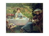 Tea Time Giclee Print by Jacques Jourdan
