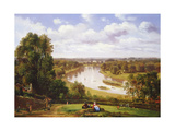View of the River Thames from Richmond Hill Giclee Print by Thomas Christopher Hofland