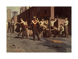 Iron Workers at Noontime, 1882 Giclee Print by Thomas Pollock Anschutz