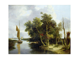 Wherries on the Yare Giclee Print by John Crome