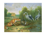 The Heron and the Fox, 1661 Giclee Print by Jan Van, The Elder Kessel