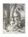 The Holy Family with St. John, 1593 Giclee Print by Hendrik Goltzius