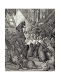 The Council Held by the Rats, from the Fables of La Fontaine, Engraved by Antoine Valerie… Giclee Print by Gustave Doré
