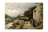 The Mill on the Llugwy, Capel Curig Giclee Print by David Bates