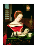 St. Mary Magdalene Writing Giclee Print by  Master of the Female Half Lengths