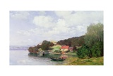 Boating on a Lake, 1891 Giclee Print by Anders Andersen-Lundby
