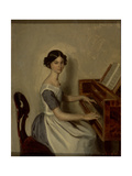 Portrait of Nadezhda P. Zhdanovich at the Piano, 1849 Giclee Print by Pavel Andreevich Fedotov