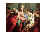 Christ and the Woman Taken in Adultery Giclee Print by Gaetano Gandolfi