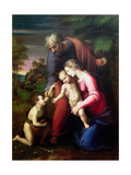 Holy Family with John the Baptist, 1513/14 Reproduction procédé giclée par  Raphael