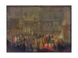 Coronation of Louis Xv (1710-74) 25th October 1722, 1735 Giclee Print by Jean-Baptiste Martin