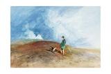 The Shepherd on the Hill, 1831 Gicléedruk van John Sell Cotman