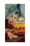 Young Woman Undressing Giclee Print by Jean Francois Armand Felix Bernard