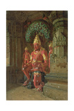 Vishnu Statue in the Indra Temple, 1874 Giclee Print by Piotr Petrovitch Weretshchagin
