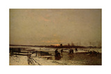 Winter Scene Giclee Print by Ludwig Munthe