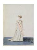 Afternoon Dress, Fig. 303 from Nikolaus Heideloff's 'Gallery of Fashion', Vol II, June 1801 Giclee Print by Nicolaus von Heideloff