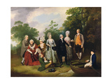 The Oliver and Ward Families in a Garden, C.1788 Giclee Print by Francis Wheatley