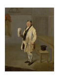 Portrait of a Coachman from Bramham Park, Yorkshire, Identified as William Fox, C.1822 Giclee Print by George Garrard