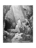 Daniel in the Den of Lions, Engraved by Antoine Alphee Piaud, C.1868 Giclee Print by Gustave Dore