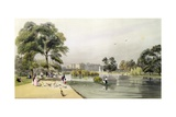 Buckingham Palace: from St. James's Park, 1842 Giclee Print by Thomas Shotter Boys