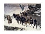 Bringing Home the Body of King Carl Xii of Sweden (1682-1718) 1884 Giclee Print by Gustaf Olaf Cederstrom