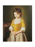 Portrait of a Young Girl, La Penitente Giclée-tryk af Pietro Antonio Rotari