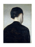 Seated Figure, Seen from Behind (Anna Hammershoi) 1884 Giclee Print by Vilhelm Hammershoi