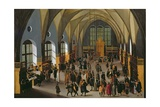 The Prague Stock Exchange Giclee Print by Aegidius Sadeler Or Saedeler