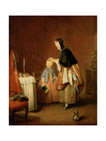 The Morning Toilet Giclee Print by Jean-Baptiste Simeon Chardin