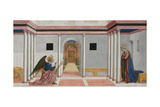The Annunciation, Predella Panel from the St. Lucy Altarpiece, C.1442-48 Giclée-tryk af Domenico Veneziano