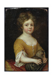 Portrait of a Girl with a Cat, C.1665-70 Giclee Print by Mary Beale