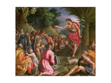 St. John the Baptist Preaching Giclee Print by Alessandro Allori