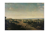 Panoramic View of Olinda Giclee Print by Frans Jansz Post