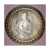 Unknown Lady, Formerly Called Lucy Harrington, Countess of Bedford, C.1605 Giclee Print by Isaac Oliver